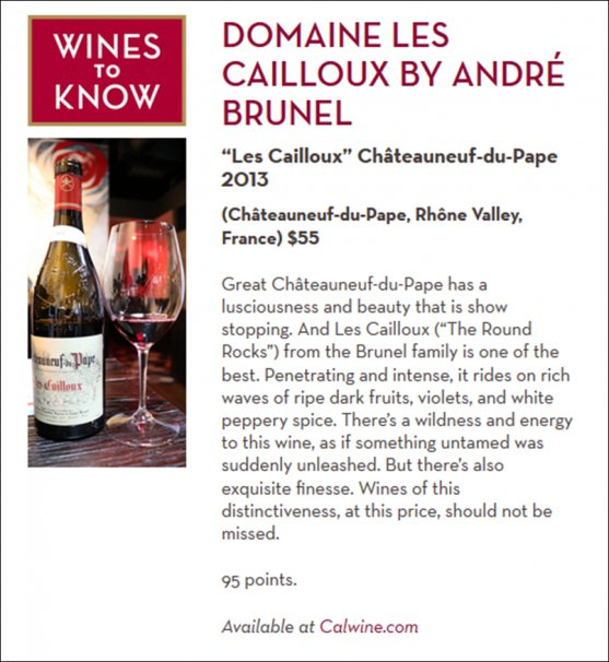 Cailloux 2013 - Wine Speed