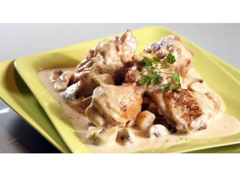 Bresse Chicken Fricassee with Cream